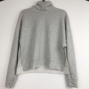 Cowl Neck Brushed Fleece Pullover XS